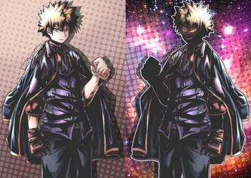 i made Bakugo in tuxedo series by shirodebby