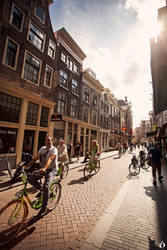cyclists in Amsterdam by ESPECTR0