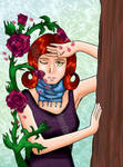 Trapped+Kissed by the rosebush by NicoleDaney