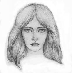 Sketch of a woman #1 by Klitamnestra