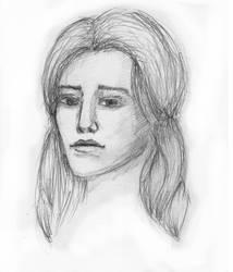 Sketch of a woman #2 by Klitamnestra