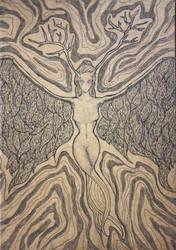Deity - Notebook cover by Klitamnestra