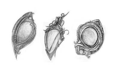 Pieces of elven jewellery by Klitamnestra