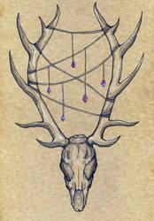Skull - notebook cover by Klitamnestra