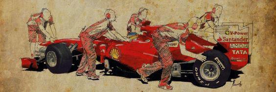 Ferrari F1 A Boxes by Benjhons