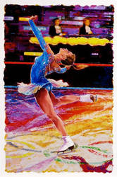 Olympic Figure Skater - Sports Art by Benjhons