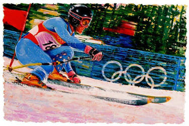 Ted Ligety - Sports Art by Benjhons