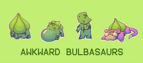Awkward Bulbasaurs by emilycrossing
