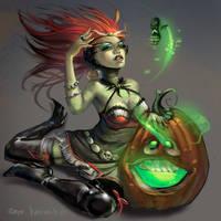 Witch withTiny Creepy by alfadesire