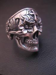 Day of the dead  skull ring 2 by flintlockprivateer