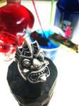 Silver Tiki Ring by flintlockprivateer