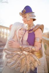 Priest Seth and Kisara by IlunaNeko