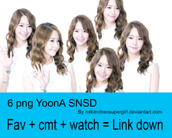 6 PNG YoonA SNSD by mikitrotrecsupergirl