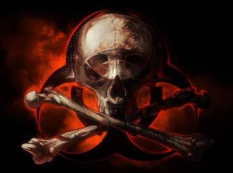 Biohazard Skull by AlexandreaZenne