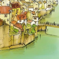 Village Bottom by Pakeet