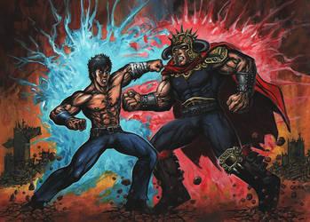 Fist of the North Star KENSHIRO vs. RAOH by adamgeyer