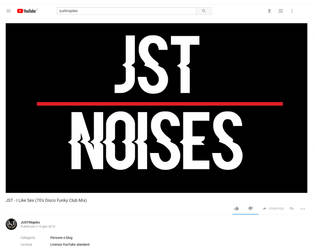Jst Noises Youtube Channel by JUSTINaples