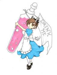Haruhi in Wonderland 2 by AnimeJanice