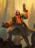 Hellboy by raqsonu
