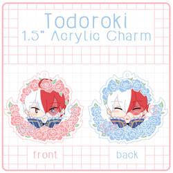 Flower Todoroki Double Sided Acrylic Charm by nalu-art