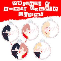 Persona 5 Christmas Couple Charms by nalu-art