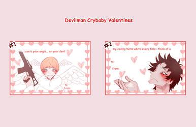 Devilman Crybaby Valentines Cards by nalu-art