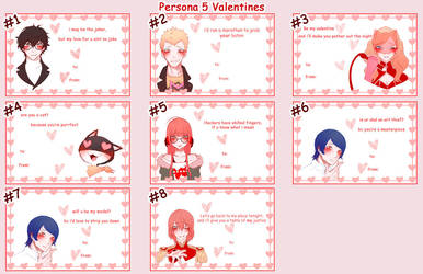 Persona 5 Valentines Cards by nalu-art