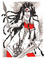 Wonder Woman warm up art by TessFowler