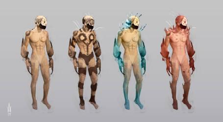 Planet Rokka-33 humanoids by Illusiontracions