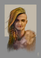 Viking Portrait II by Illusiontracions