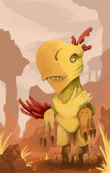 Dino Chicken by Illusiontracions