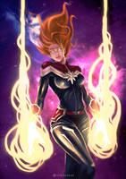 Captain Marvel by nikoenkei