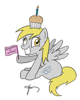 Ditzy at MLP:FiM's Anniversary by MateusUK