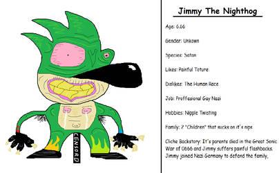 Jimmy The Nighthog Oc by Swagybread