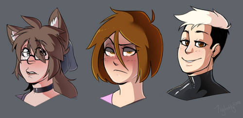 Head Shots 10-27-18 by Tightly-Doodles
