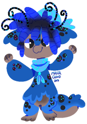 Lil Blue Tox Chibi [Payment] by MaltaCloud