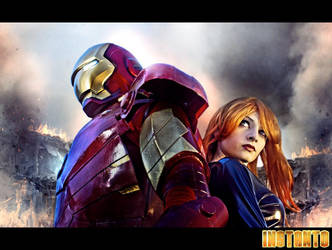 Iron Man / Black Widow by IssssE