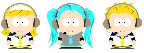 Vocaloid in South Park WTF by Pufflepalooza