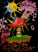 Infected mushroom by SandyClaw