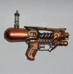 Tesla Style Steampunk Gun (Upcycled Squirt Gun) by MarilynFaye