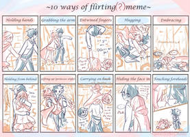 10 Ways Of Flirting(?) Meme by CuteNikeChan