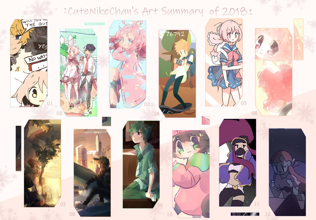 Art Summary 2018 by CuteNikeChan