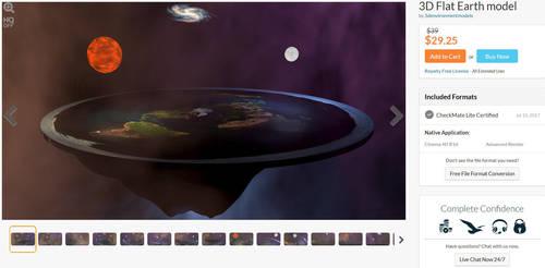 3D Flat Earth Model by 3denvironmentmodels by 3denvironmentmodels
