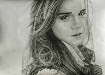 Emma Watson grafite portrait by gj-drawer
