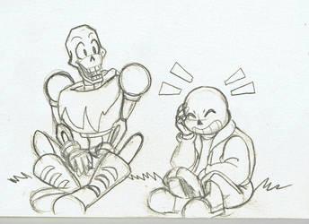 Somos hermanos YAOI Sans x Papyrus by angel-de-la-verdad