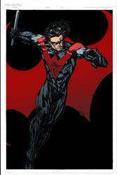 Nightwing Colored by ginmau