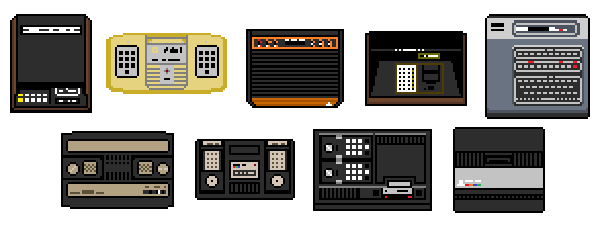 Second Generation Videogame Consoles - Zoomed by VampireSlug
