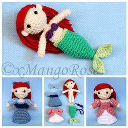 The Little Mermaid - Princess Ariel Amigurumi Doll by xMangoRose