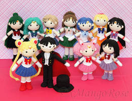 Sailor Moon Collection Bundle (Crochet Patterns) by xMangoRose