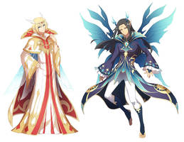 Kings of the light and dark faeries by DarkHHHHHH